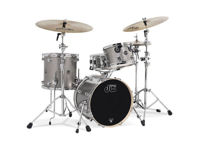 "Shell Set DW Performance Finish Ply / Satin Oil 24"" 3-delig Titanium Sparkle, 24"", 12"", 16"""