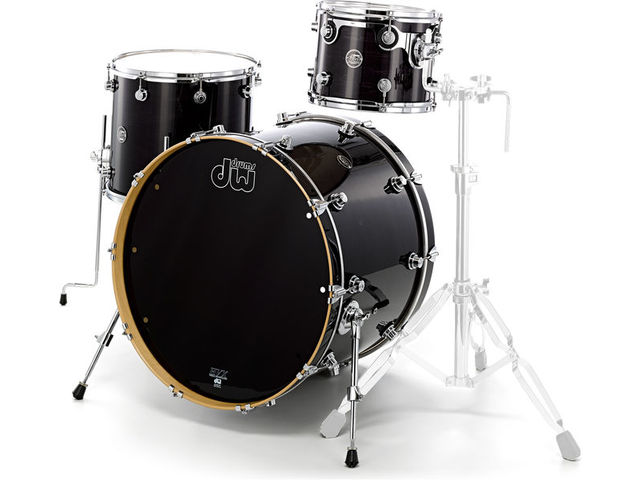 "Shell Set DW Performance Lacquer 22"" 3-delig Ebony Stain, 22"", 12"", 16"""