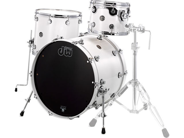 "Shell Set DW Performance Lacquer 22"" 3-delig Pearlescent White, 22"", 12"", 16"""