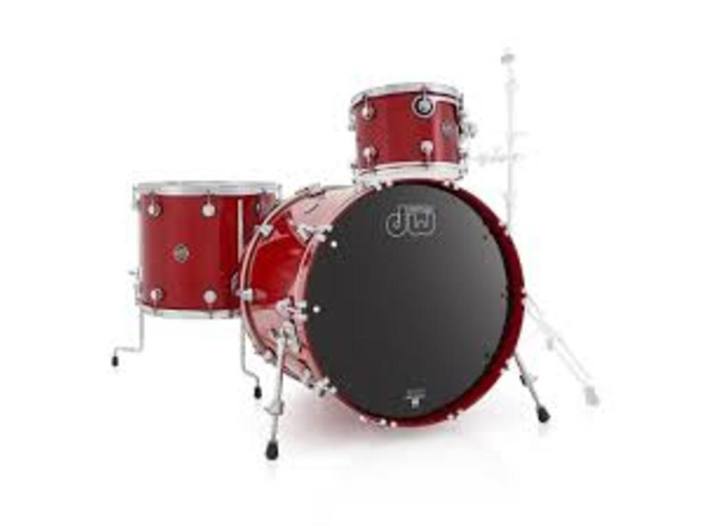 "Shell Set DW Performance Lacquer 22"" 3-delig Candy Apple Red, 22"", 12"", 16"""