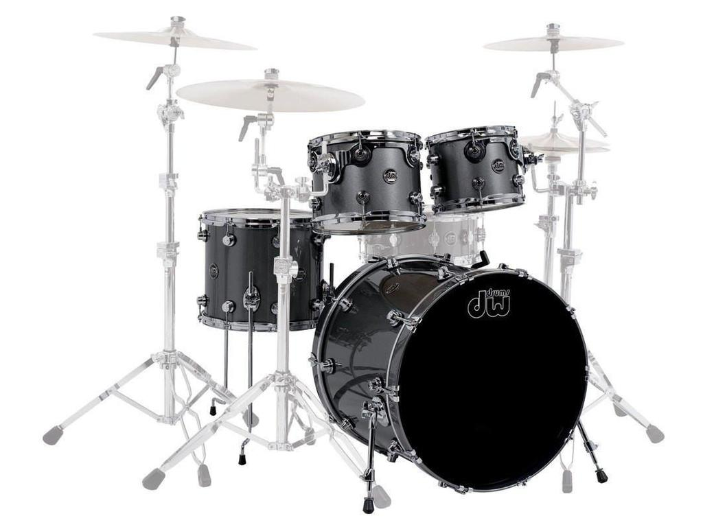 "Shell Set DW Performance Lacquer 22"" 4-delig Gun Metal Metallic, 22"", 10"", 12"", 14"""