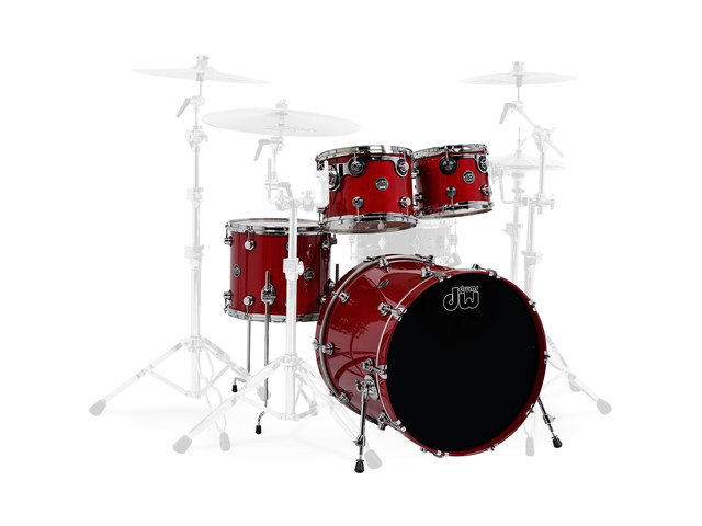 "Shell Set DW Performance Lacquer 22"" 4-delig Candy Apple Red, 22"", 10"", 12"", 14"""