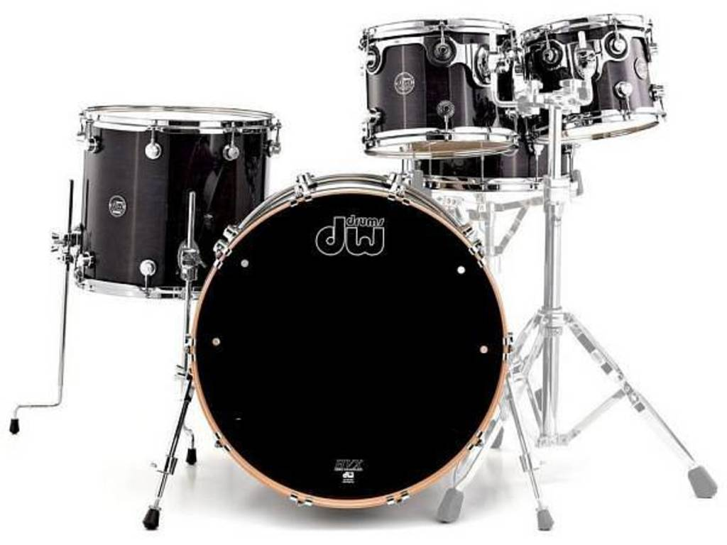 "Shell Set DW Performance Lacquer 22"" 4-delig Ebony Stain, 22"", 10"", 12"", 16"""