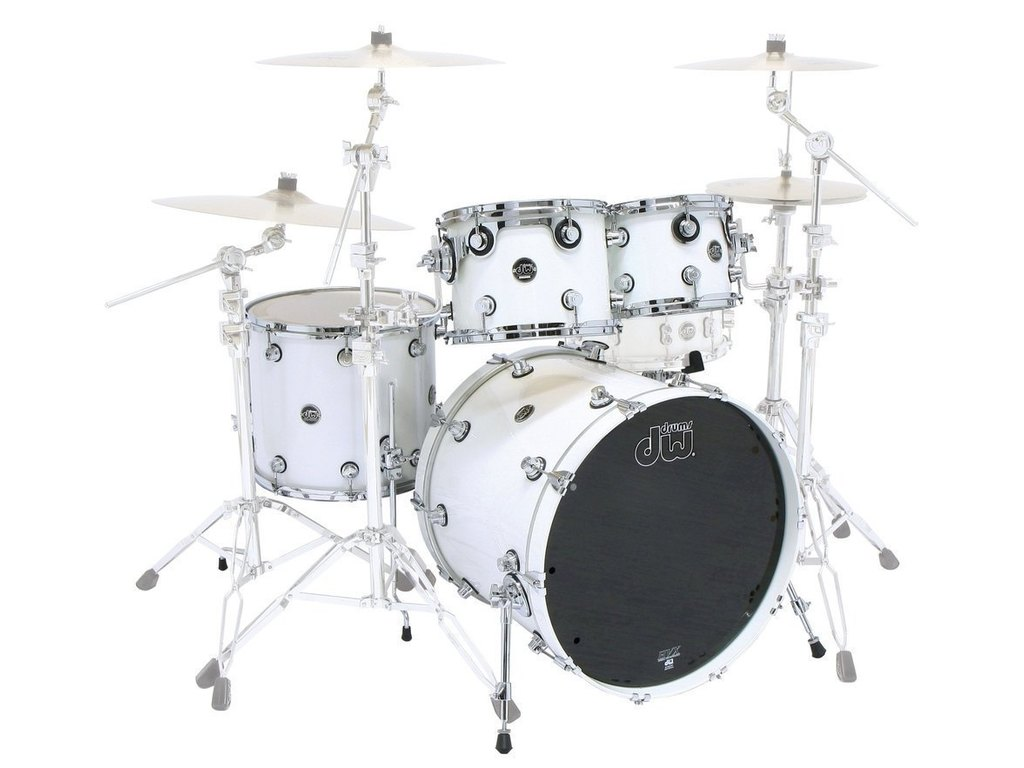 "Shell Set DW Performance Lacquer 22"" 4-delig Pearlescent White, 22"", 10"", 12"", 16"""