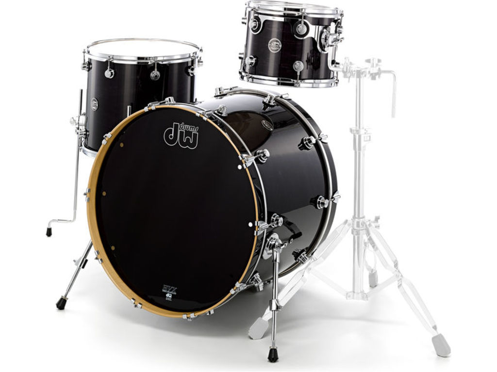 "Shell Set DW Performance Lacquer 24"" 3-delig Ebony Stain, 24"", 12"", 16"""