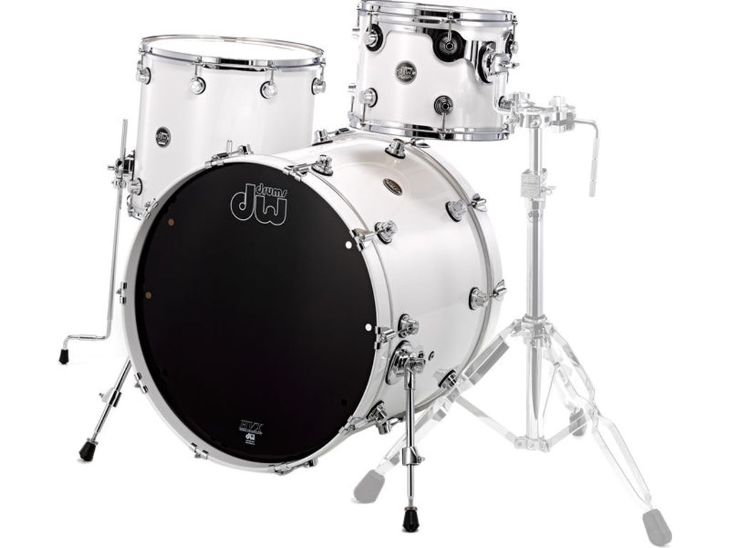 "Shell Set DW Performance Lacquer 24"" 3-delig Pearlescent White, 24"", 12"", 16"""