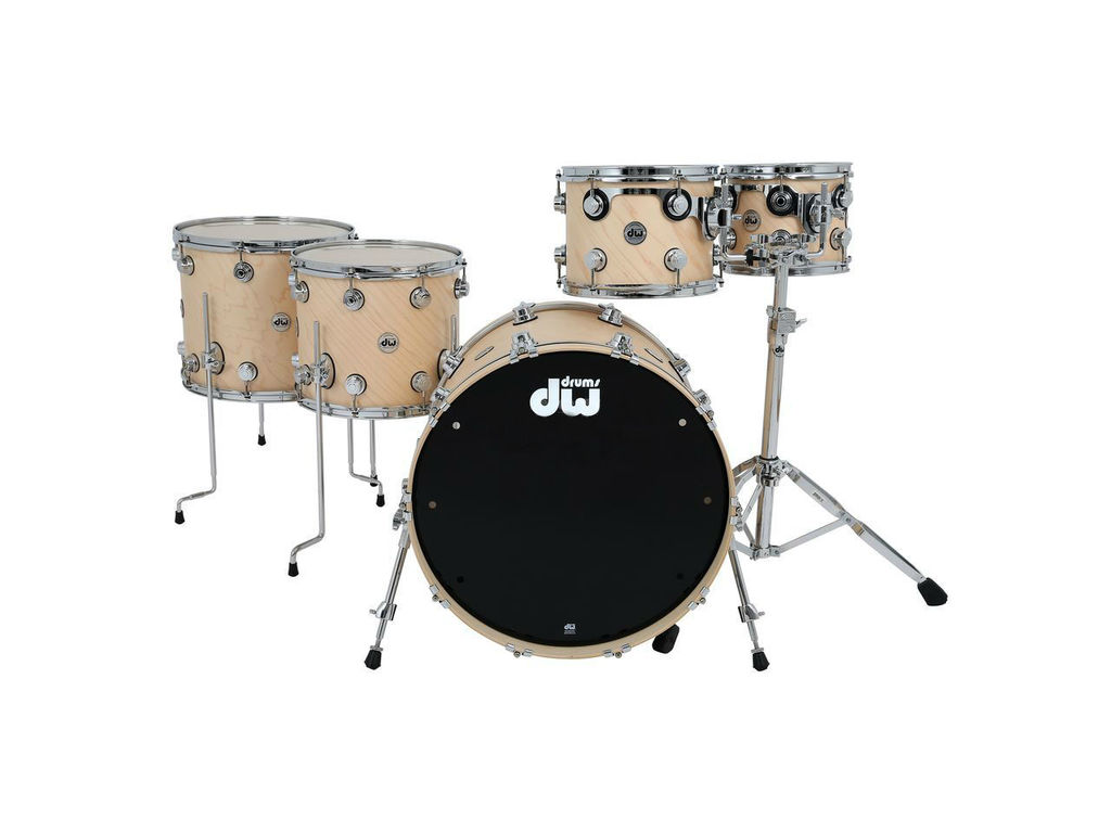 "Shell set DW Collector's Satin Oil Naturel, Chrome hardware, 22"", 10"", 12"", 14"", 16"""