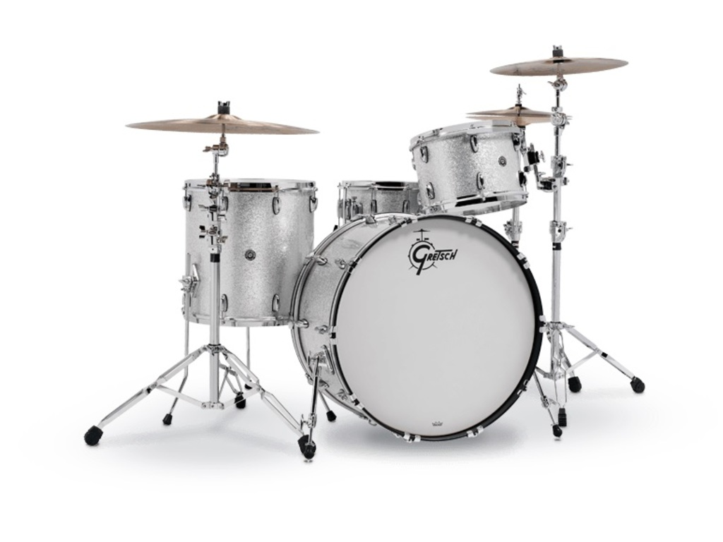 "Shell Set Gretsch USA Brooklyn GB-E403 -012 Silver Sparkle, 20"", 12"", 14"""