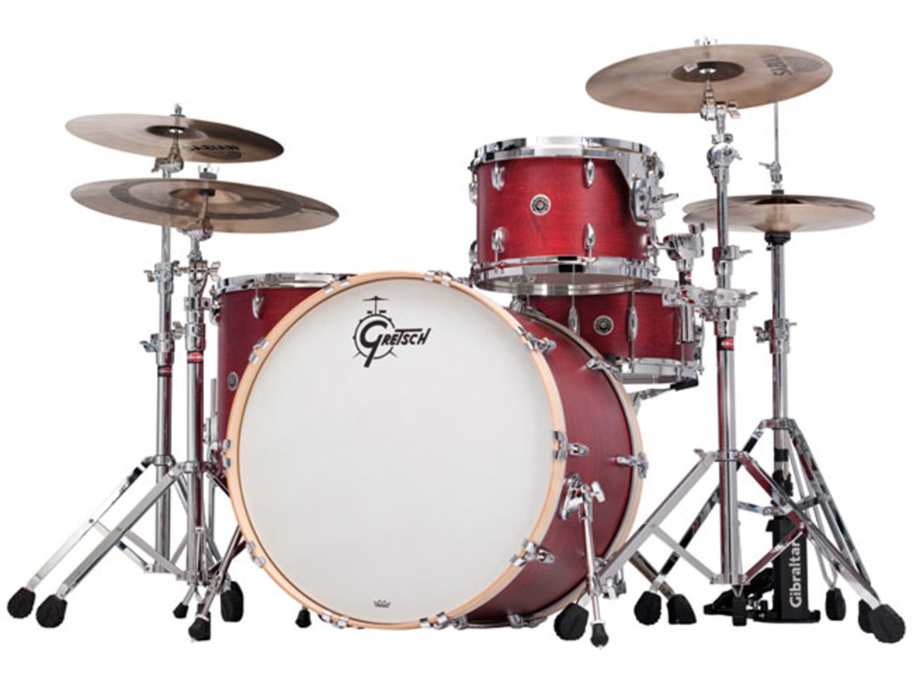 "Shell Set Gretsch USA Brooklyn GB-E403-CRO Satin Cherry Red, 20"", 12"", 14"""