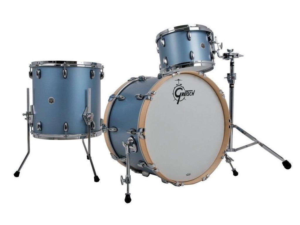 "Shell Set Gretsch USA Brooklyn GB-E403-SIBM Satin Ice Blue Metallic, 20"", 12"", 14"""