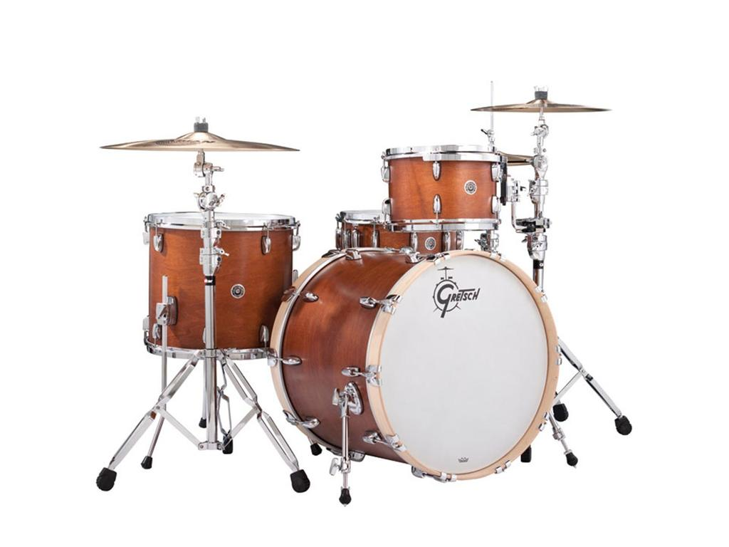 "Shell Set Gretsch USA Brooklyn GB-R443-SM Satin Mahogany, 24"", 13"", 16"""