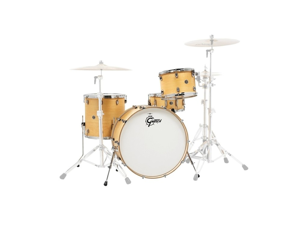 "Shell Set Gretsch USA Brooklyn GB-R443-SN Satin Natural, 24"", 13"", 16"""
