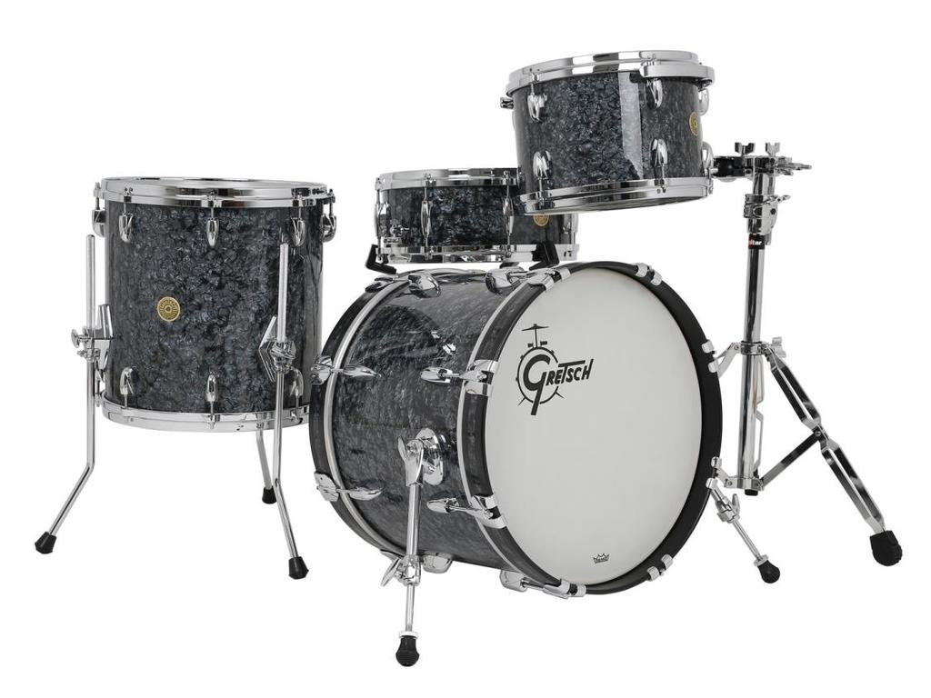 "Shell Set Gretsch USA Brooklyn GB-E8246-094 Deep Marine Black Pearl, 22"", 10"", 12"", 16"""
