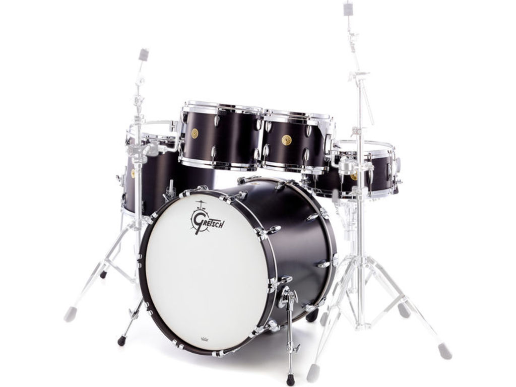 "Shell Set Gretsch USA Brooklyn GB-E8246 -SDE Satin Dark Ebony, 22"", 10"", 12"", 16"""