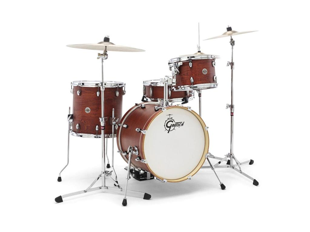 "Shell Set Gretsch Catalina Club CT1-J484-SWG Satin Walnut Glaze, 18"", 12"", 14"", 14"""