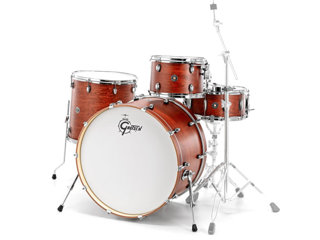 "Shell Set Gretsch Catalina Club CT1-R444-SWG Satin Walnut Glaze, 24"", 13"", 16"", 14"""