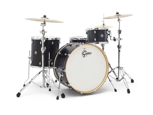 "Shell Set Gretsch Catalina Club CT1-J404-PB Piano Black, 20"", 12"", 14"", 14"""