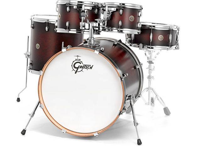 "Shell Set Gretsch Catalina Maple CM1-E825-SDCB Satin Deep Cherry Burst, 22"", 10"", 12"", 16"", 14"""