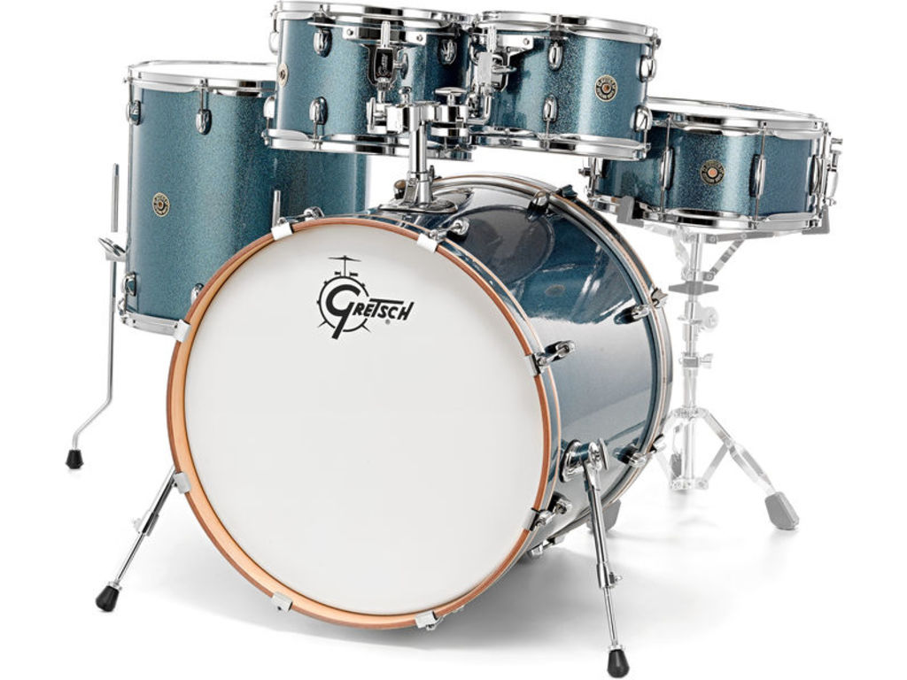 "Shell set Gretsch Catalina Maple CM1-E825-AS Aqua Sparkle, 22"", 10"", 12"", 16"", 14"""