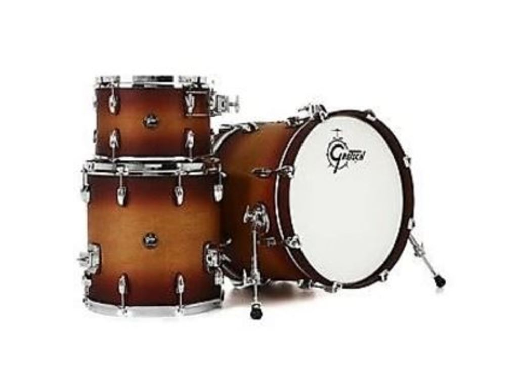 "Shell Set Gretsch Renown RN2-J483-STB Satin Tobacco Burst, 18"", 12"", 14"", inclusief tom houder"