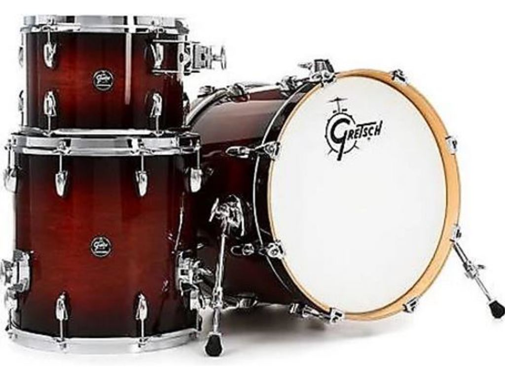 "Shell Set Gretsch Renown RN2-J483-CB Cherry Burst, 18"", 12"", 14"", inclusief tom houder"