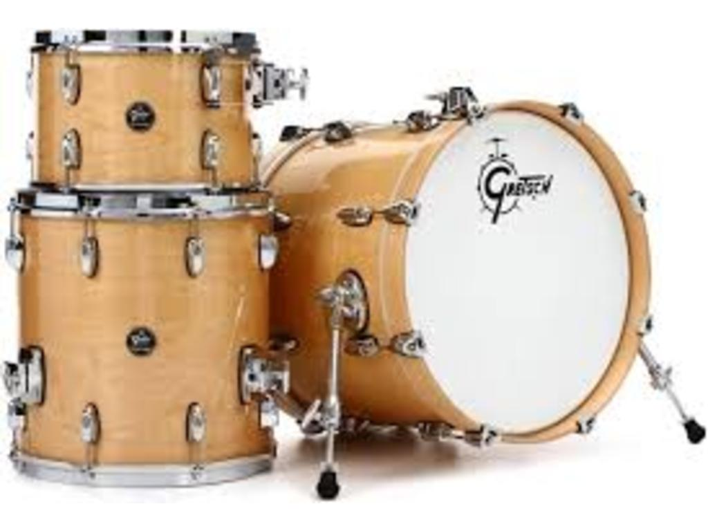 "Shell Set Gretsch Renown RN2-J483-GN Gloss Natural, 18"", 12"", 14"", inclusief tom houder"