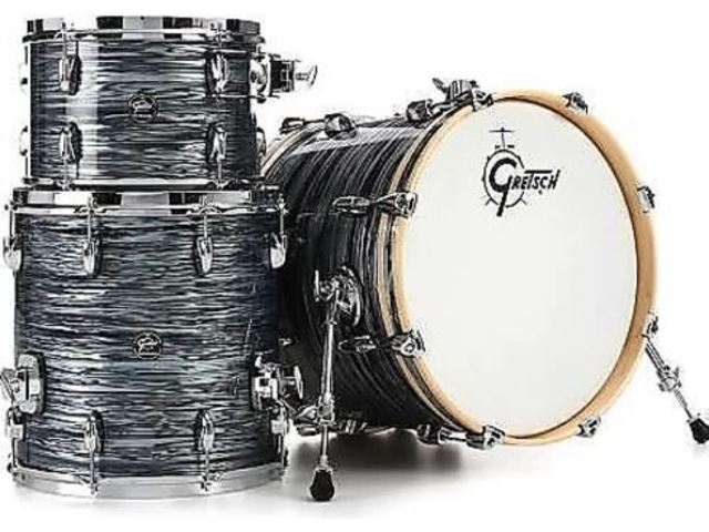 "Shell Set Gretsch Renown RN2-E823-SOP Silver Oyster Pearl, 22"", 12"", 16"", inclusief tom houder"