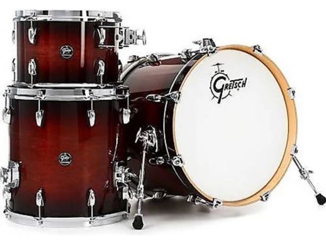 "Shell Set Gretsch Renown RN2-R643-CB Cherry Burst, 24"", 13"", 16"", inclusief tom houder"