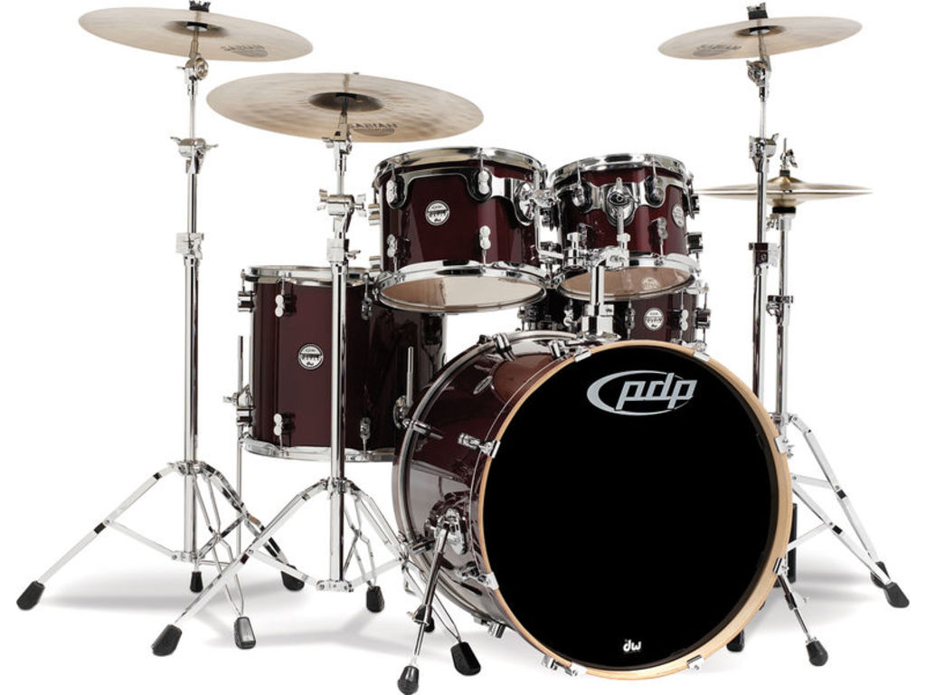 "Shell Set PDP Concept Maple CM5 20"" Transparent Cherry, 20"", 10"", 12"", 14"", 14"", zonder hardware"