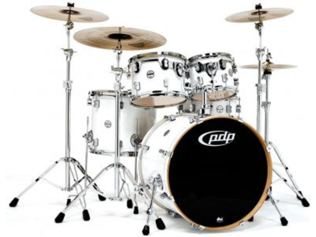 "Shell Set PDP Concept Maple CM5 20"" Pearlescent White, 20"", 10"", 12"", 14"", 14"", zonder hardware"