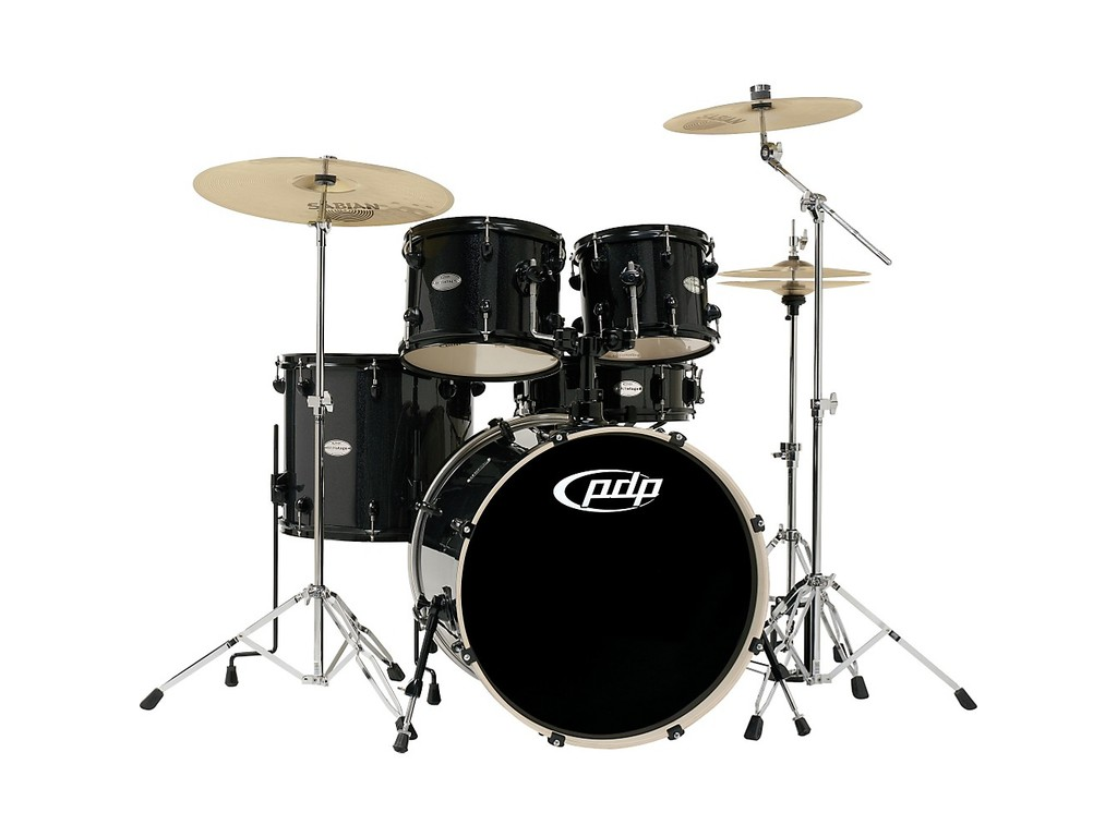 "Shell Set PDP Concept Maple CM5 20"" Pearlescent Black, 20"", 10"", 12"", 14"", 14"", zonder hardware"