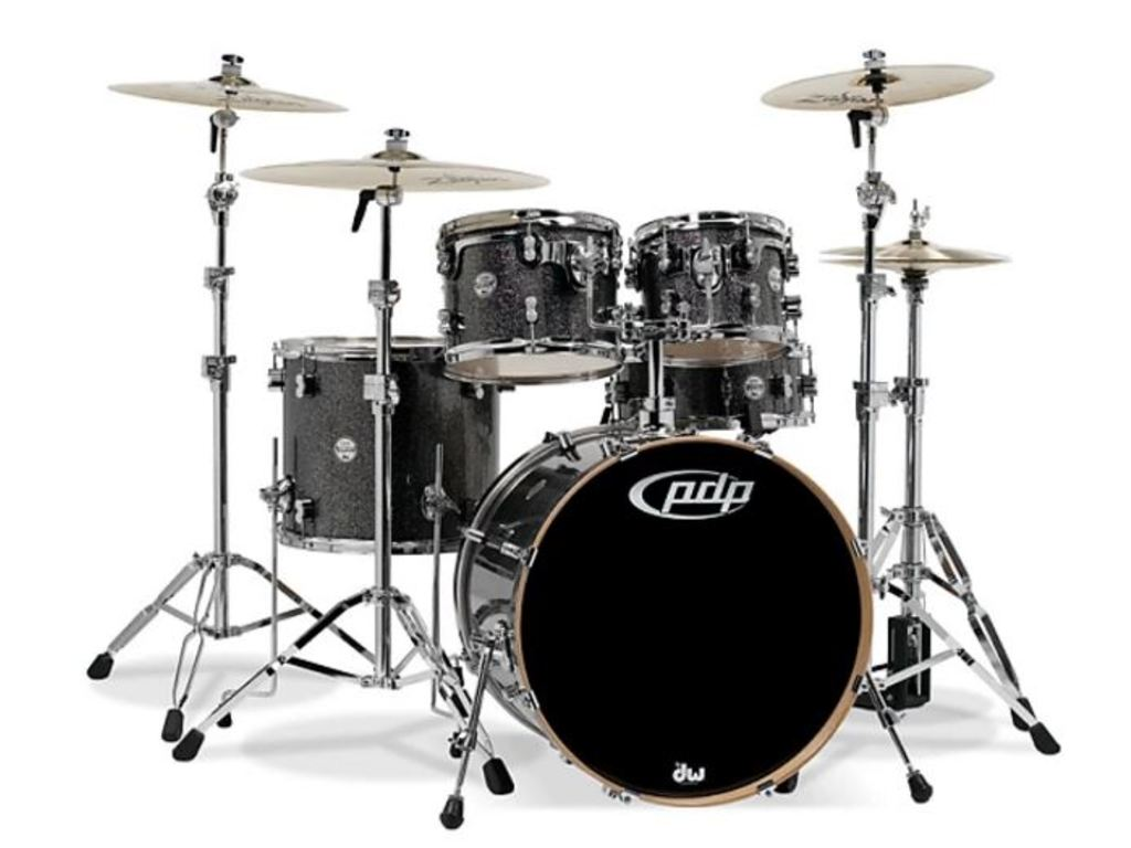 "Shell Set PDP Concept Maple CM5 20"" Black Sparkle, 20"", 10"", 12"", 14"", 14"", zonder hardware"
