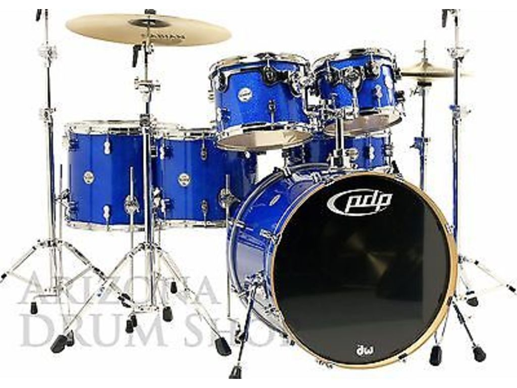 "Shell Set PDP Concept Maple CM6 22"" Blue Sparkle, 22"", 10"", 12"", 14"", 16"", 14"", zonder hardware"