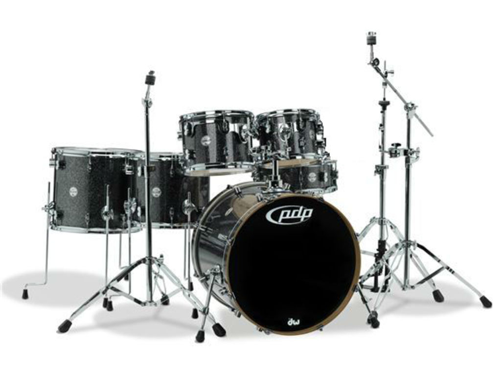 "Shell Set PDP Concept Maple CM6 22"" Black Sparkle, 22"", 10"", 12"", 14"", 16"", 14"", zonder hardware"