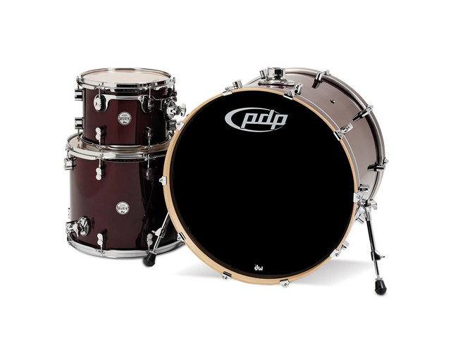 "Shell Set PDP Concept Maple CM3 24"" Transparent Cherry, 24"", 12"", 16"", zonder hardware"