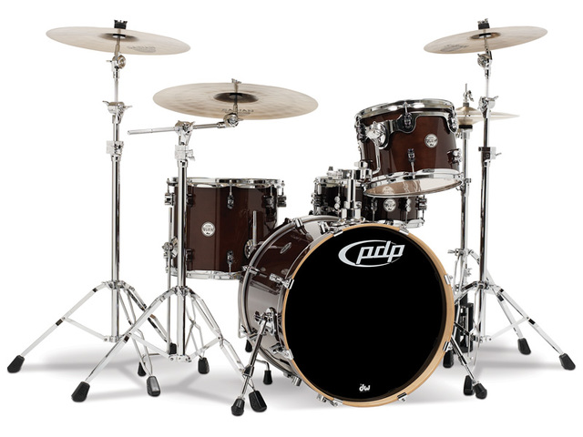 "Shell Set PDP Concept Maple CM3 24"" Transparent Walnut, 24"", 12"", 16"", zonder hardware"