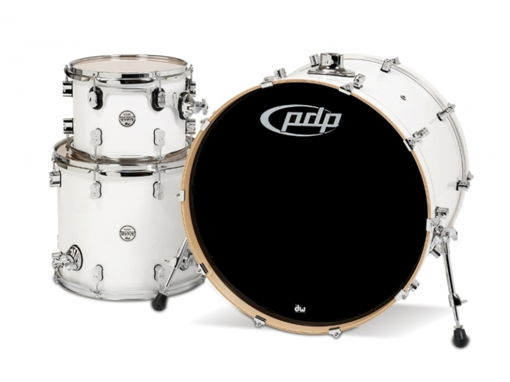 "Shell Set PDP Concept Maple CM3 24"" Pearlescent White, 24"", 12"", 16"", zonder hardware"