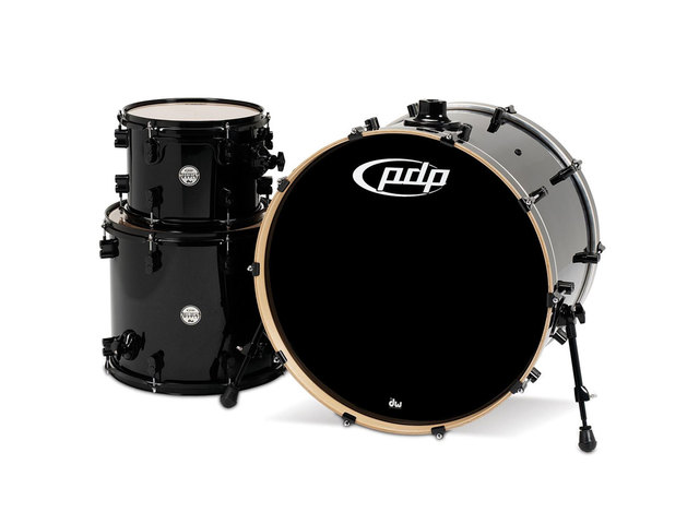 "Shell Set PDP Concept Maple CM3 24"" Pearlescent Black, 24"", 12"", 16"", zonder hardware"