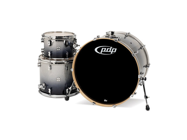 "Shell Set PDP Concept Maple CM3 24"" Silver to Black Sparkle Fade, 24"", 12"", 16"", zonder hardware"