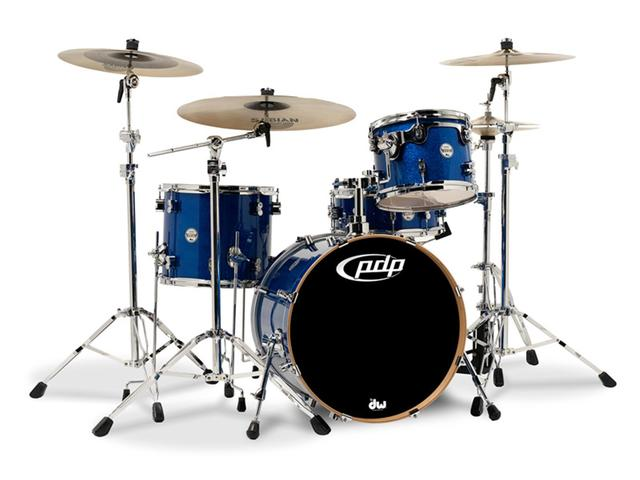 "Shell Set PDP Concept Maple CM3 24"" Blue Sparkle, 24"", 12"", 16"", zonder hardware"