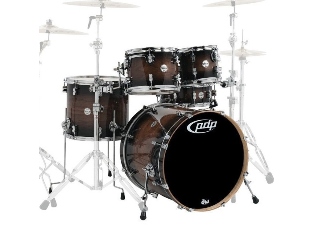 "Shell Set PDP Concept Exotic CM Exotic Charcoal Burst, 22"", 10"", 12"", 16"", 14"", zonder hardware"