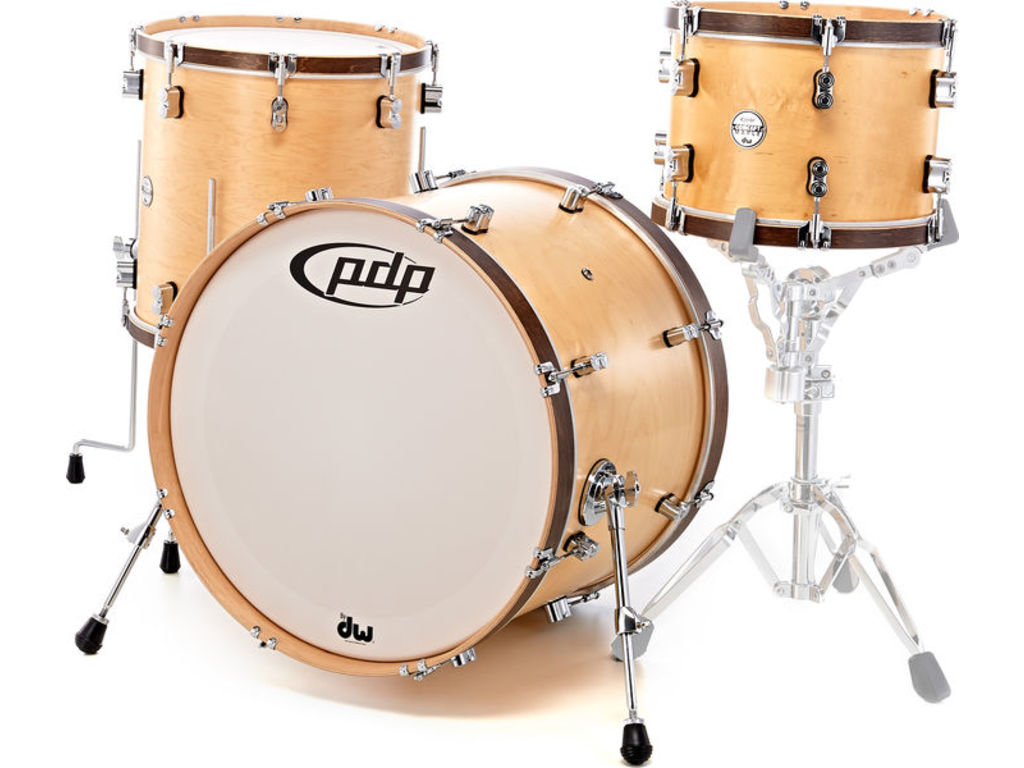 "Shell Set PDP Concept Classic 22"" Natural / Walnut Hoop, 22"", 13"", 16"""