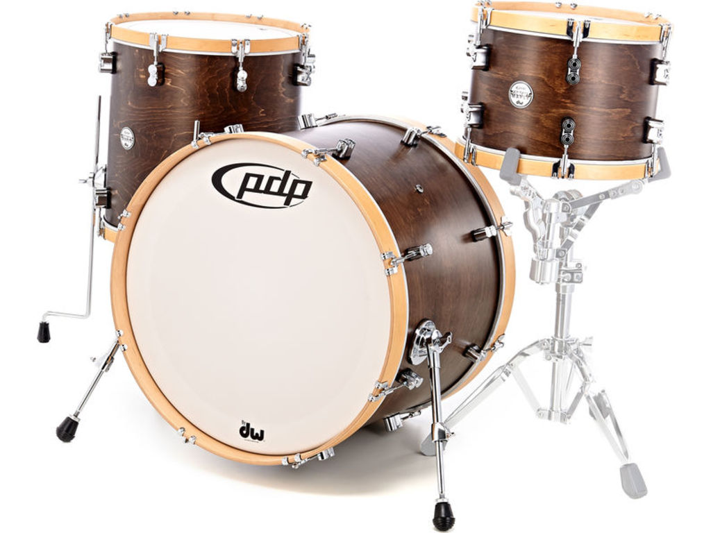 "Shell Set PDP Concept Classic 24"" Walnut / Natural Hoop, 24"", 13"", 16"""