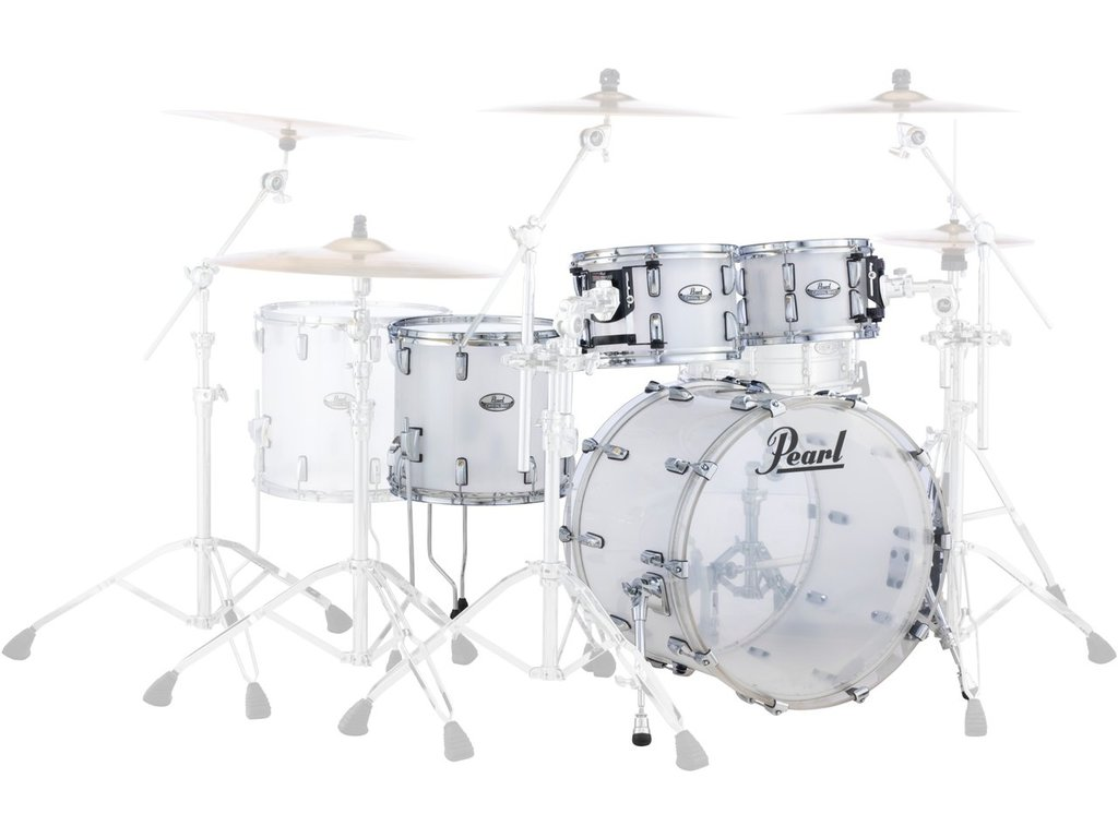 "Shell Set Pearl Crystal Beat CRB524P/C733 Frost Acrylic, 22"", 10"", 12"", 16"""
