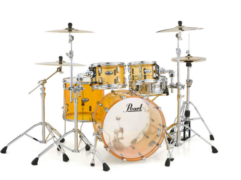 "Shell Set Pearl Crystal Beat CRB524P/C732 Tangerine Glass, 22"", 10"", 12"", 16"""