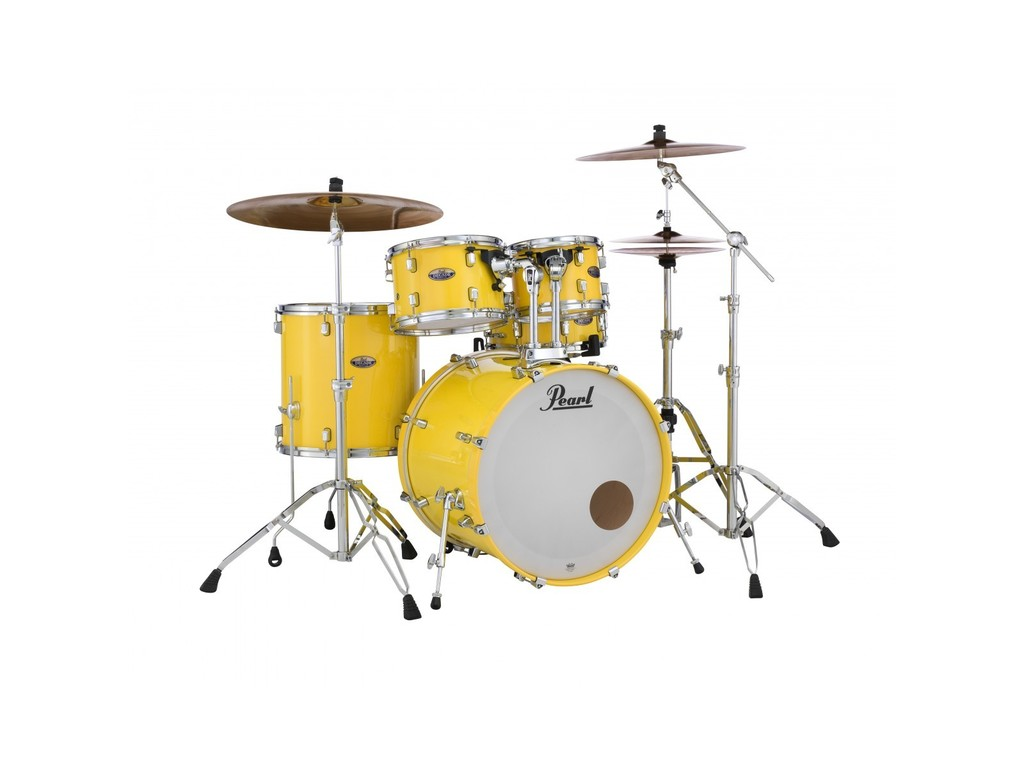 "Drumstel Pearl Decade Maple DMP925S/C228, Limited Edition Run Solid Yellow, 22"", 10"", 12"", 16"", 14, incl HWP-830"