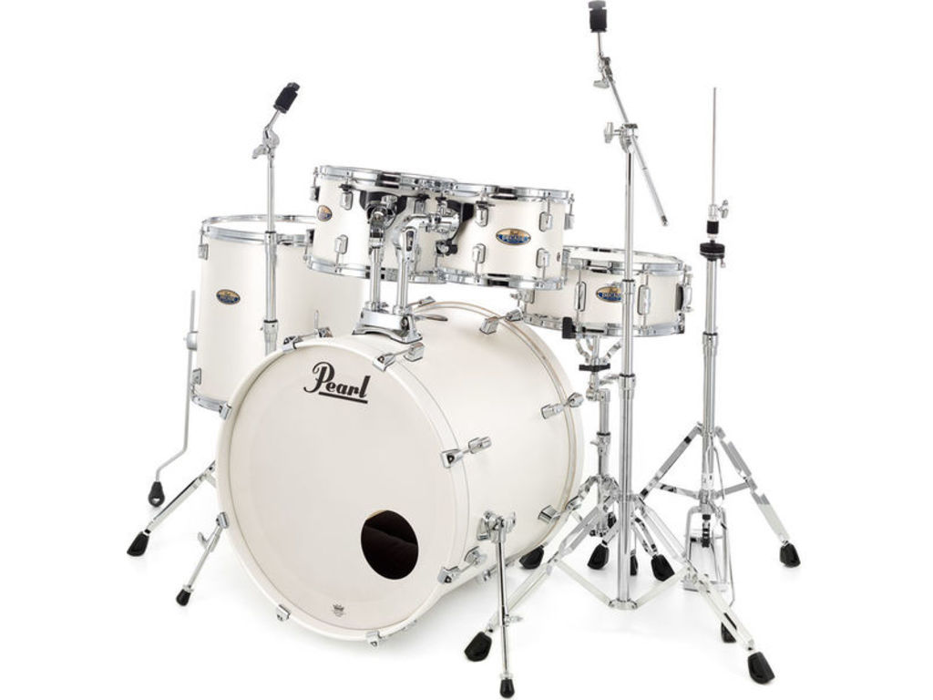 "Drumstel Pearl DMP925S/C #229, Decade Maple, White Satin Pearl, 22"", 10"", 12"", 14"", 14"", inclusief HWP-830 (P-930)"