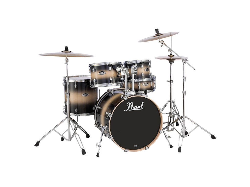 "Shell Set Pearl Export Lacquer EXL725FP/C255 Nightshade Lacquer, 22"", 10"", 12"", 14"", 14"""