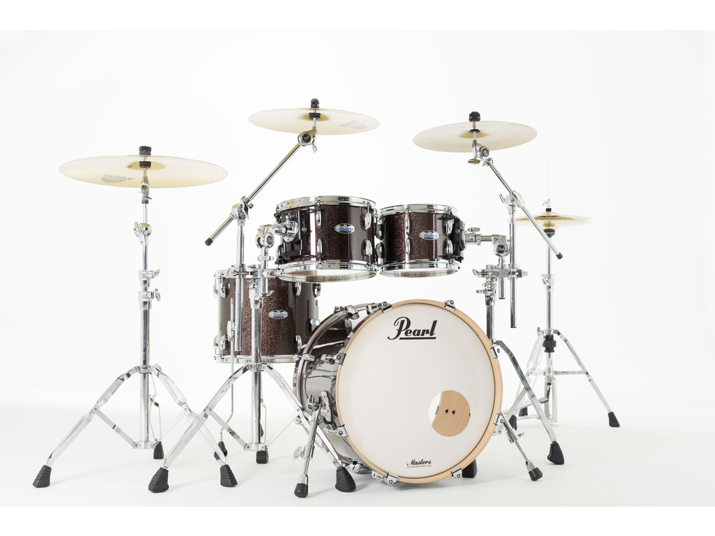 "Shell Set Pearl Masters Maple Complete MCT904XEP/C329 Burnished Bronze Sparkle, 20"", 10"", 12"", 14"""