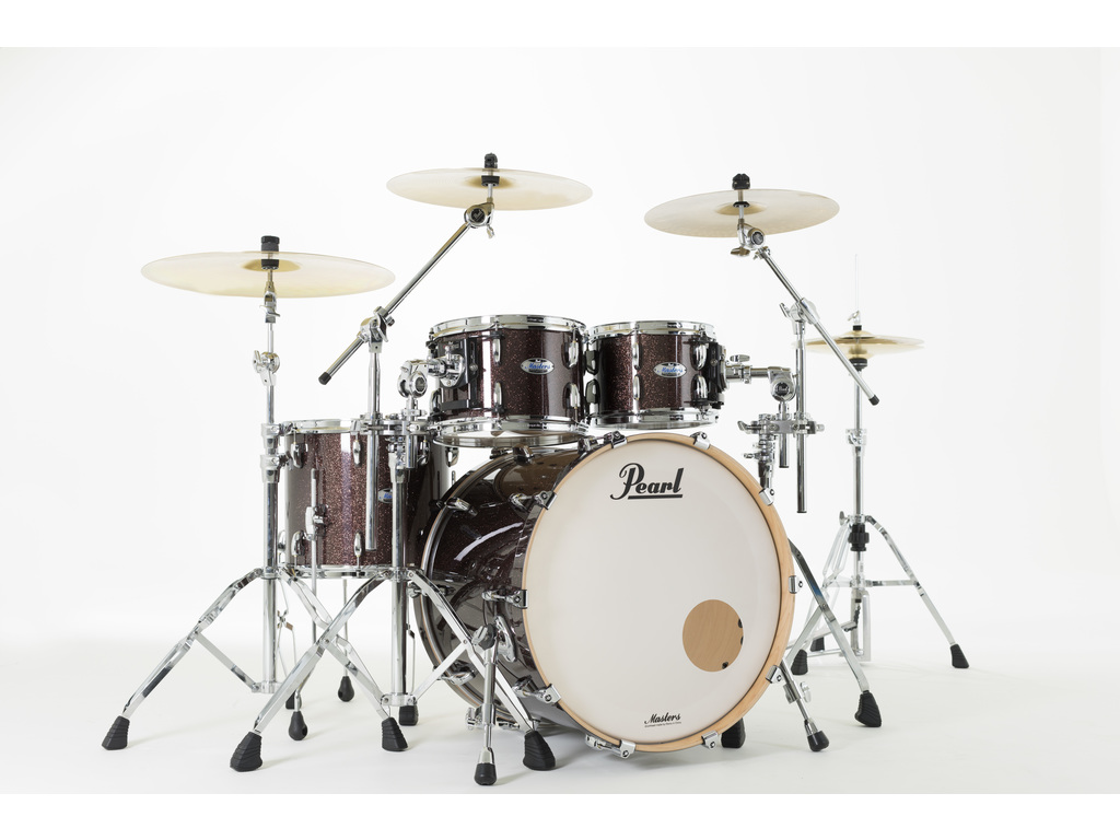 "Shell Set Pearl Masters Maple Complete MCT924XEP/C329 Burnished Bronze Sparkle, 22"", 10"", 12"", 16"""